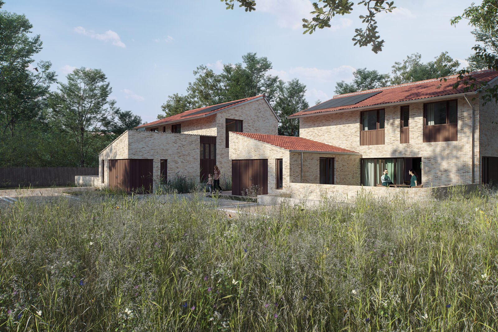 Residential Development of 5 eco-houses in Hampshire