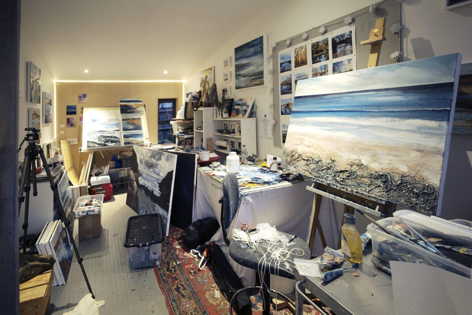 Artist Studio Hampshire Interior